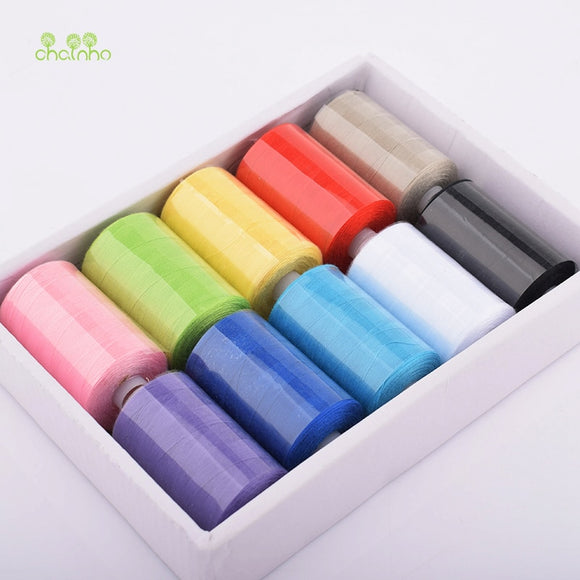 10 Spools/lot, Multi Color Polyester Thread