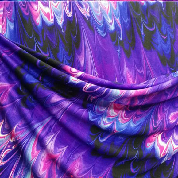 Purple  Stretch Swimming Fabric