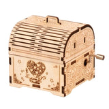 Hand Crank Music Box Model  Kit