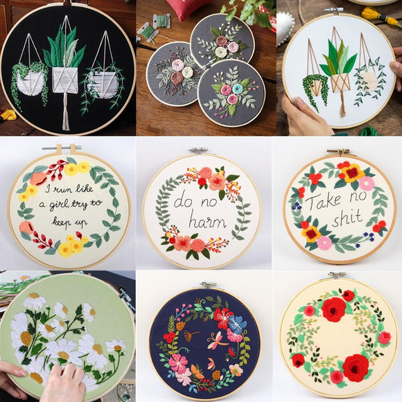 Flowers, Plants  Embroidery Set