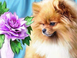 "Diamond Painting ""Dog Flower Animal"""