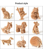 Laser Cutting Animal 3D Wooden Puzzle