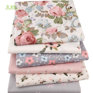 6pcs/lot New Floral Series Twill Cotton Fabric
