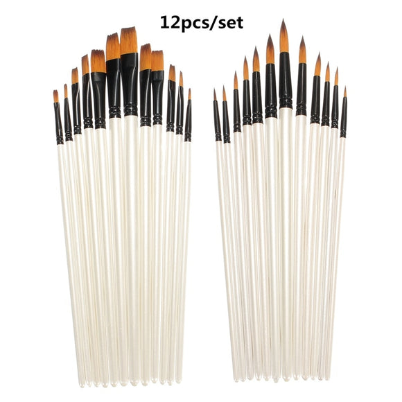 12pcs Fine Paint Brush Set