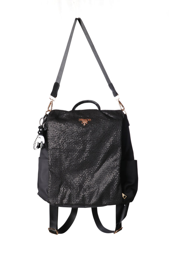 Shiny Black shoulder bag