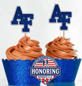 Air Force Academy Cupcake Toppers