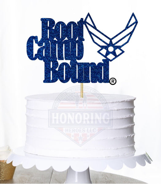 Air Force Bootcamp Bound Cake Topper