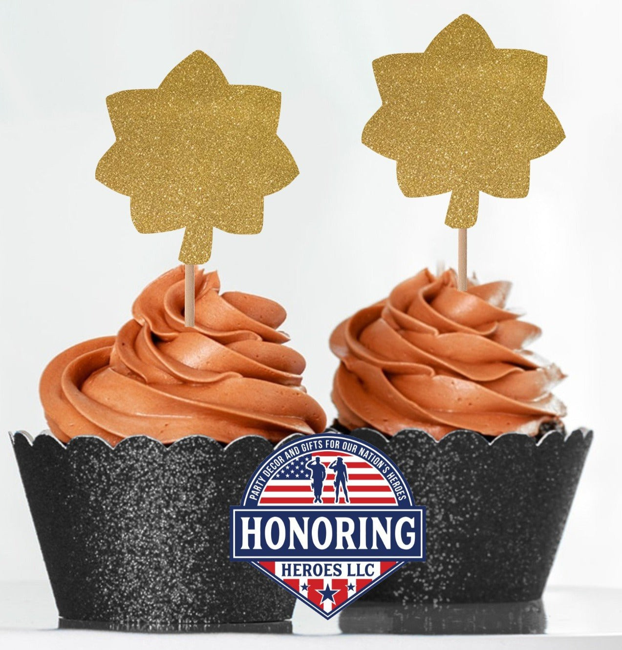 8ct ARMY Enlisted Rank Cupcake Toppers