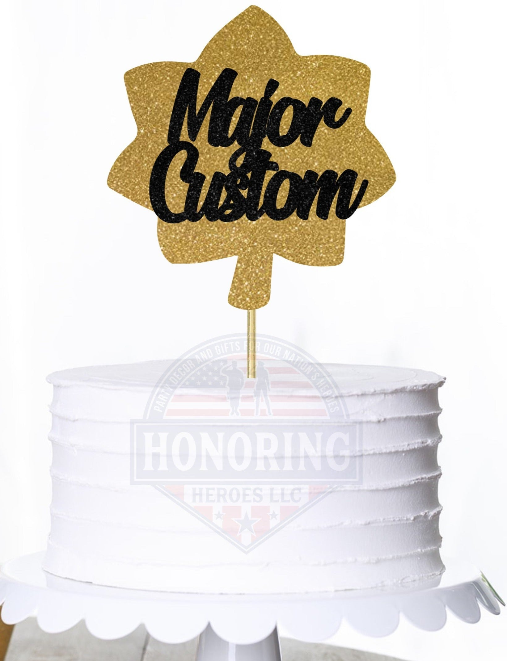 Major Cake Topper/Centerpiece