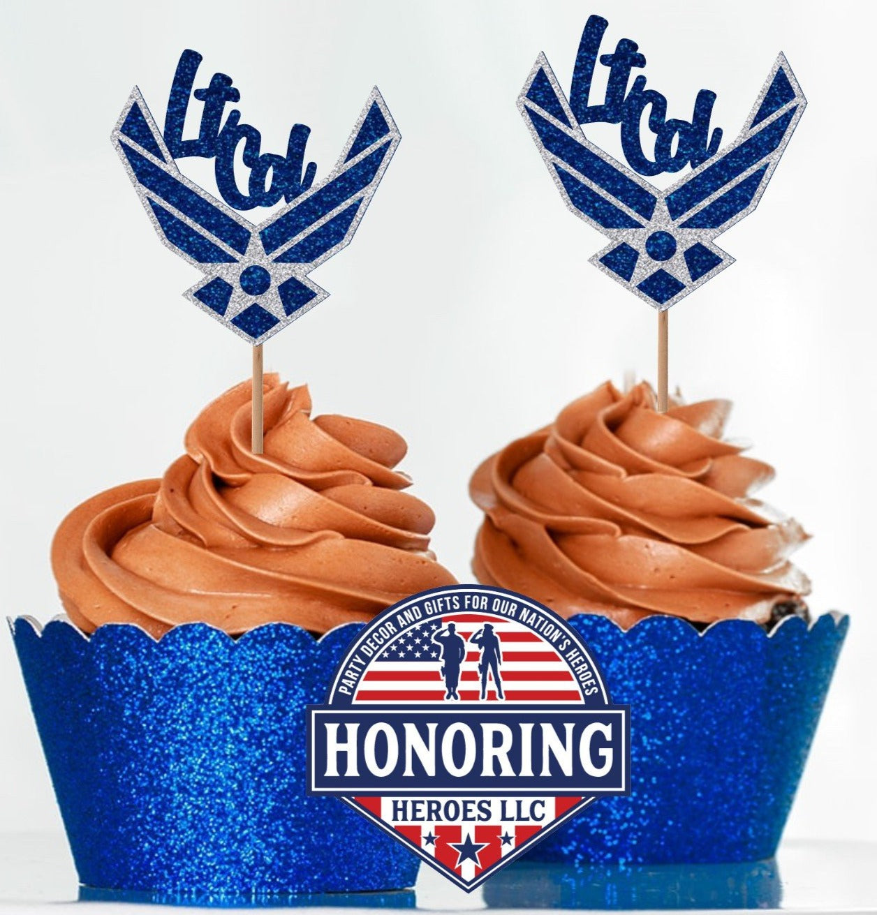 Air Force Rank Emblem Cupcake Topper. USAF Cupcake Topper. Retirement Cupcake Topper