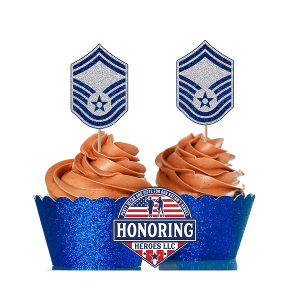 Air Force SMSgt Cupcake Topper