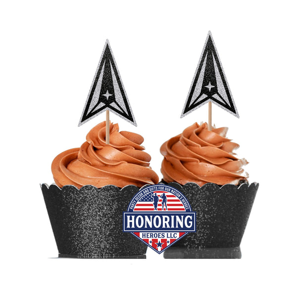 United States Space Force Cupcake Toppers