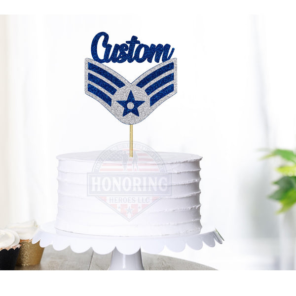Air Force Senior Airman Cake Topper