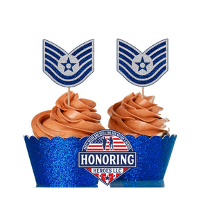 Air Force TSgt Cupcake Topper