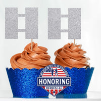 Air Force Captain Cupcake Toppers