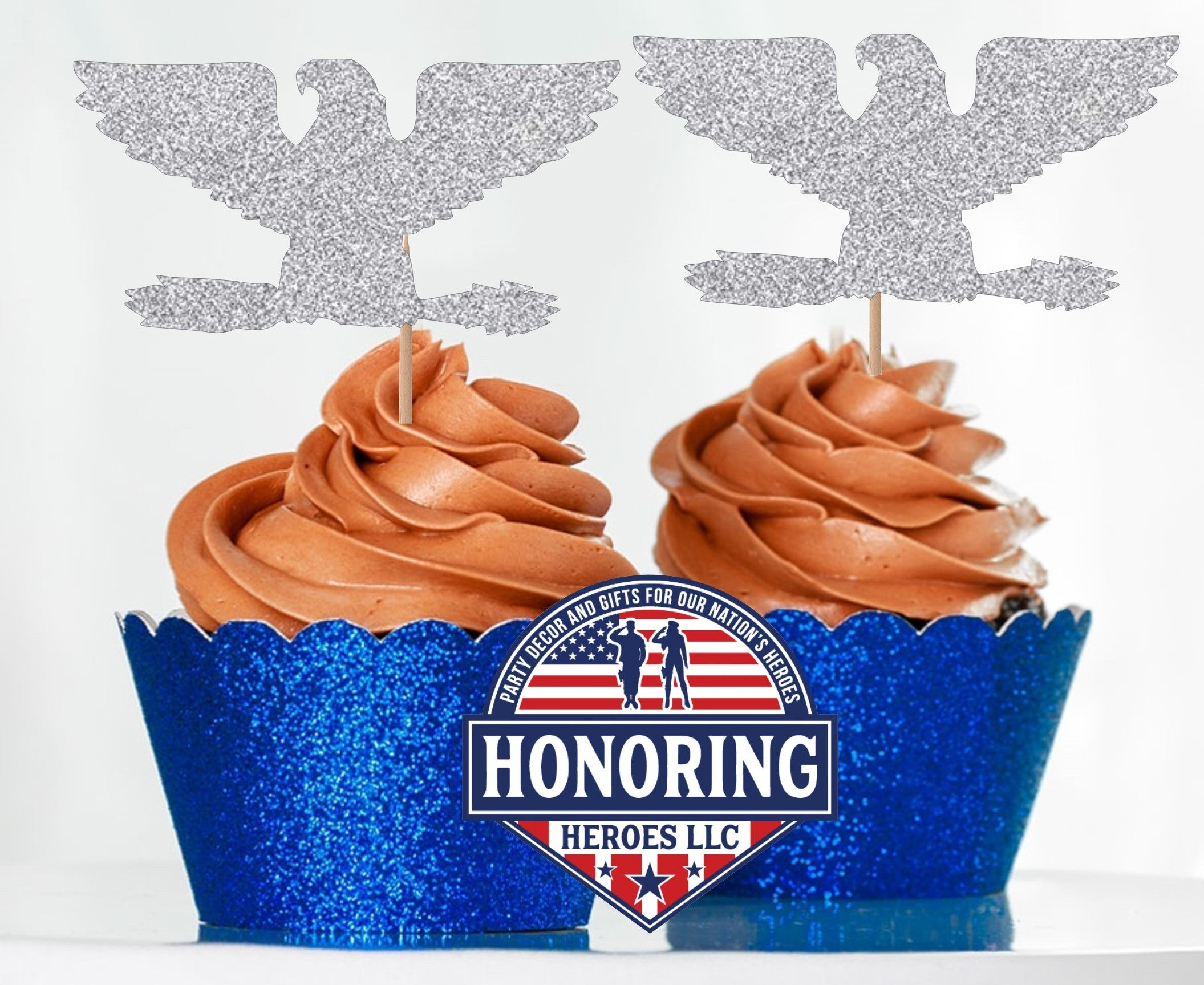 Air Force Colonel Cupcake Toppers