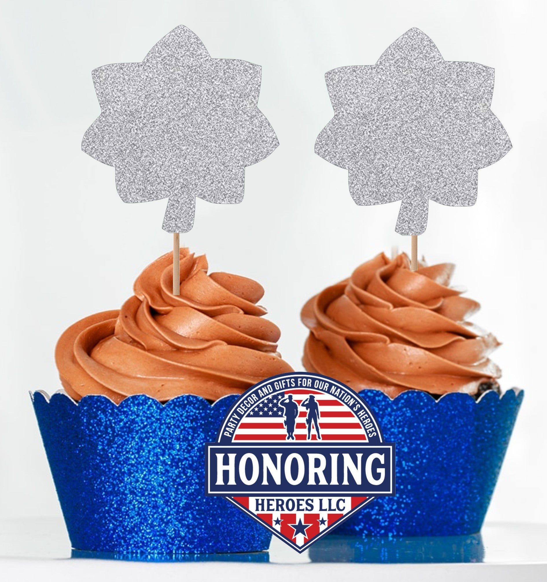 Air Force Lt Col Cupcake Toppers