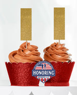 Load image into Gallery viewer, USMC Officer Rank Cupcake Toppers