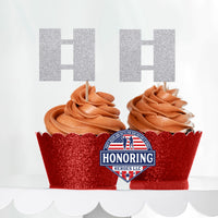 USMC Officer Rank Cupcake Toppers