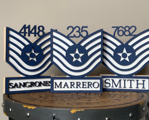 Air Force Self Standing Rank Name Plate
