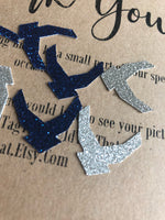 Load image into Gallery viewer, United States Air Force Emblem Confetti  USAF party. Promotion, Retirement, DD214, Military Emblem