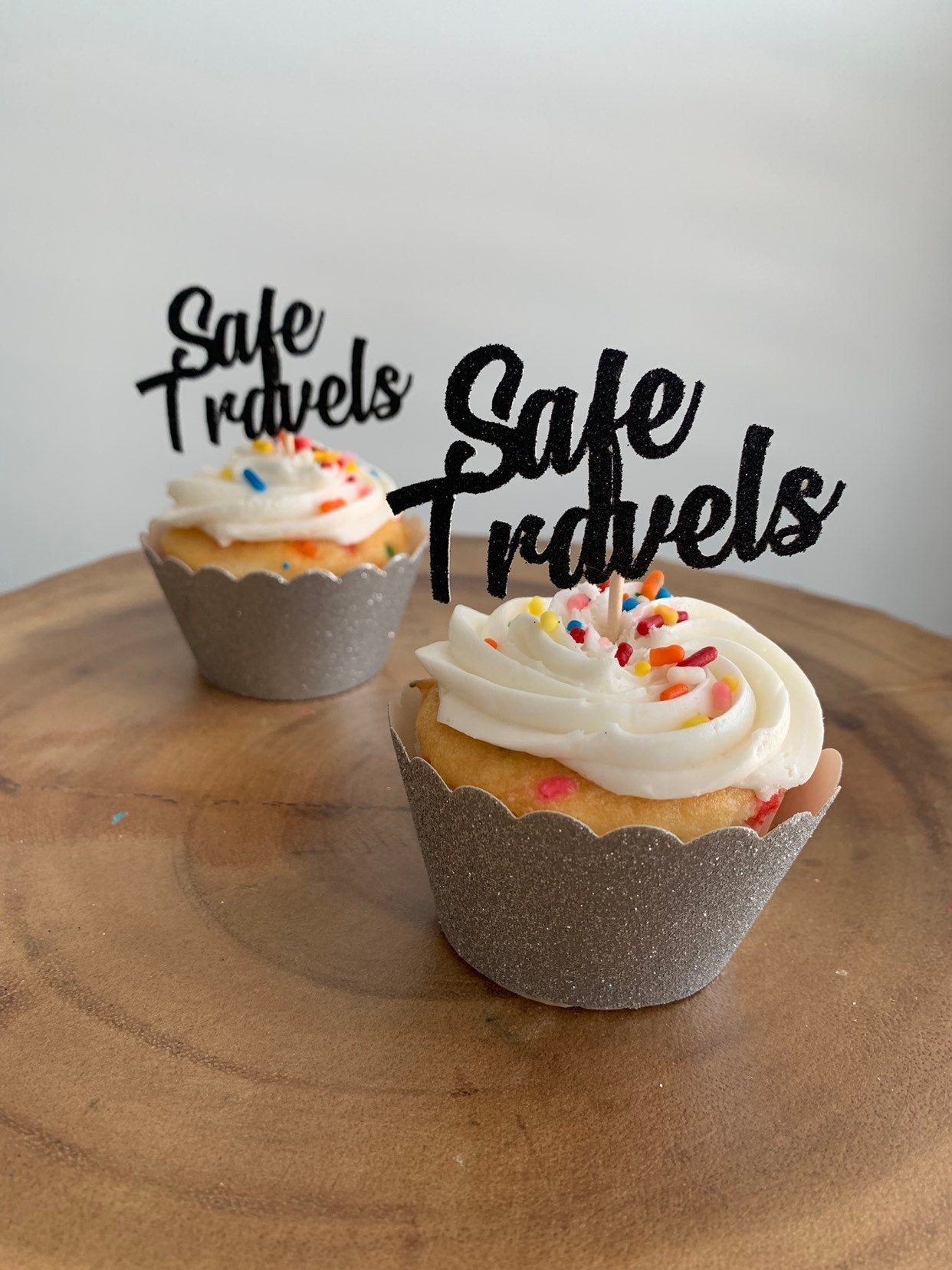 Safe Travels Cupcake Toppers