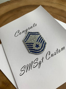 Air Force Congrats Rank Greeting Card