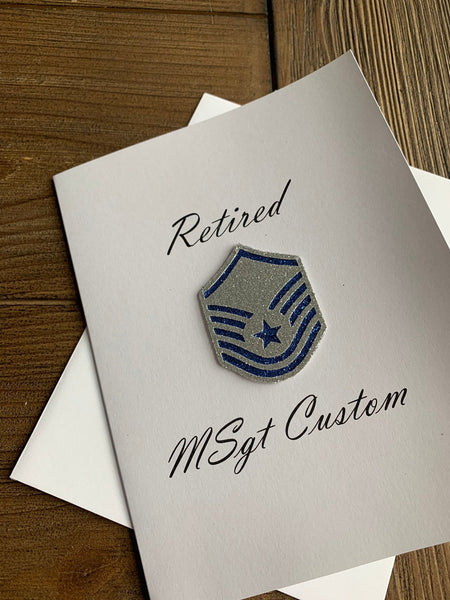 Air Force Enlisted Retired Rank Greeting Card