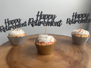Happy Retirement Cupcake Toppers