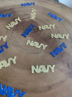 Load image into Gallery viewer, NAVY Confetti! USN Party Table Decor. 50 Pcs .