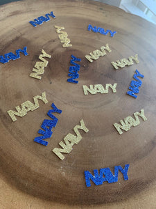 NAVY Confetti! USN Party Table Decor. 50 Pcs .