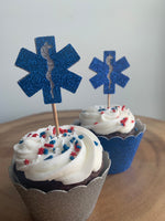Load image into Gallery viewer, Cupcake Toppers EMT, First Responder, Paramedic, Medical Cupcake Topper