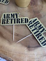 ARMY Retired Cupcake Toppers