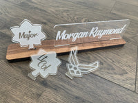 Air Force Interchangeable Name Plate and Rank