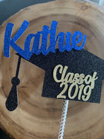 Load image into Gallery viewer, Custom Graduation Cap Cake Topper/Centerpiece. Personalized 2020 Graduation Hat Cake Topper. 2020 Grad. Congrats Grad