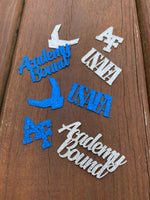 Load image into Gallery viewer, USAFA Academy Bound Confetti. AIR FORCE Academy party table decor  Promotion, Retirement, DD214, Enlistment.