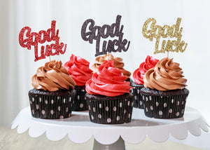 Good Luck Cupcake Toppers