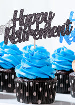 Load image into Gallery viewer, Happy Retirement Cupcake Toppers