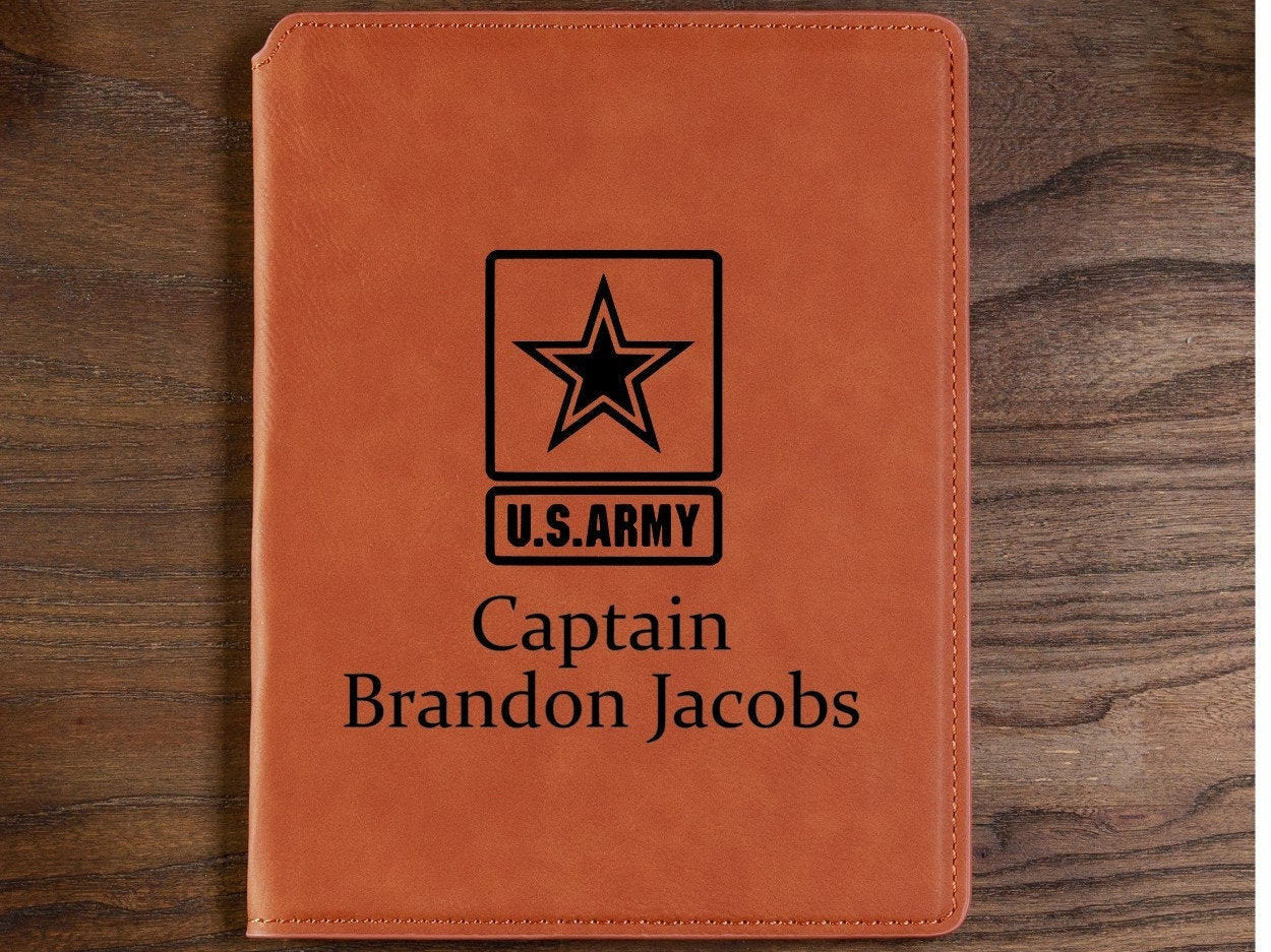 ARMY Personlized Portfolio. United States ARMY  Enlisted or Officer Rank Personlized Portfolio. Perfect Promotion Gift!