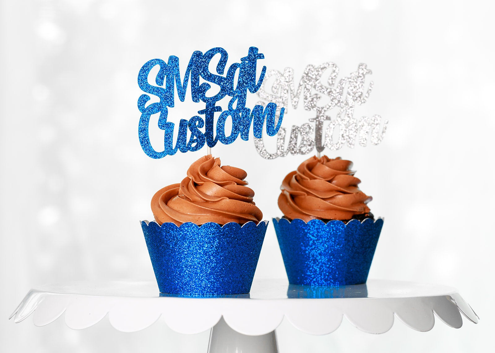 Air Force Enlisted Rank Custom Text Cupcake Toppers All Ranks Available