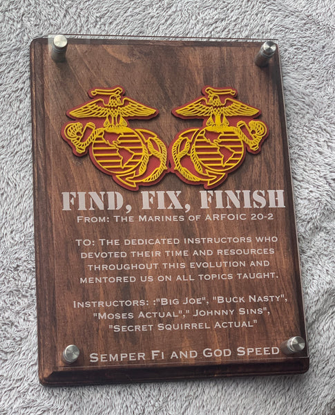 Custom Made Military Plaque