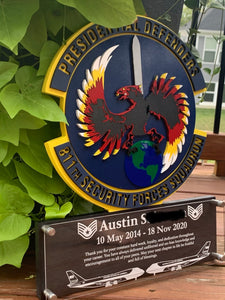 Custom Military Badge Plaque