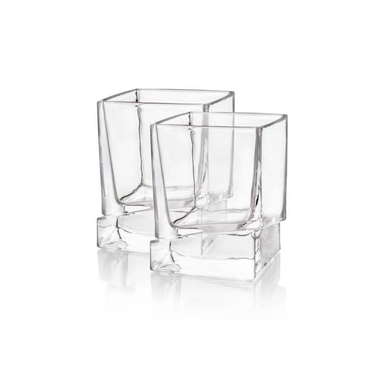 Carre Whiskey Glasses-Shatter Resistant Glass