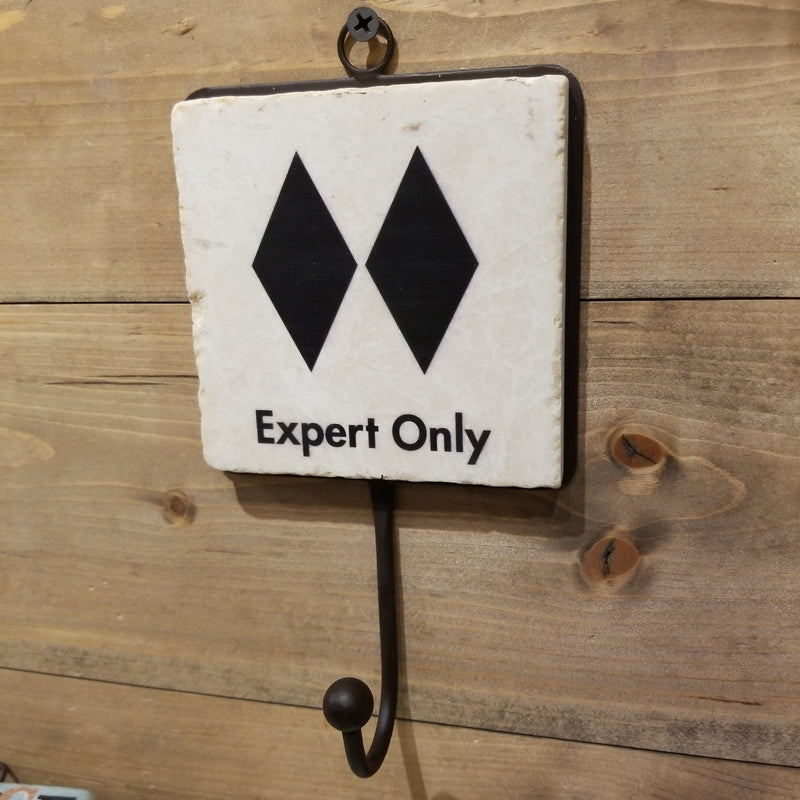 Ski Sign - Tile Hook - Expert Only