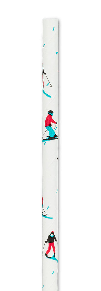 100pc Downhill Skiers Straws
