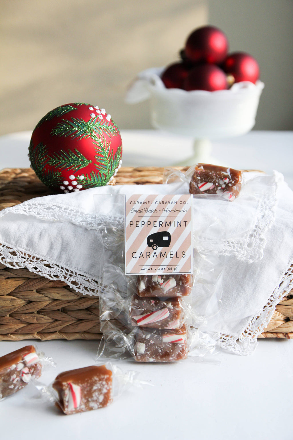 Peppermint Caramels - 4 Piece Bag