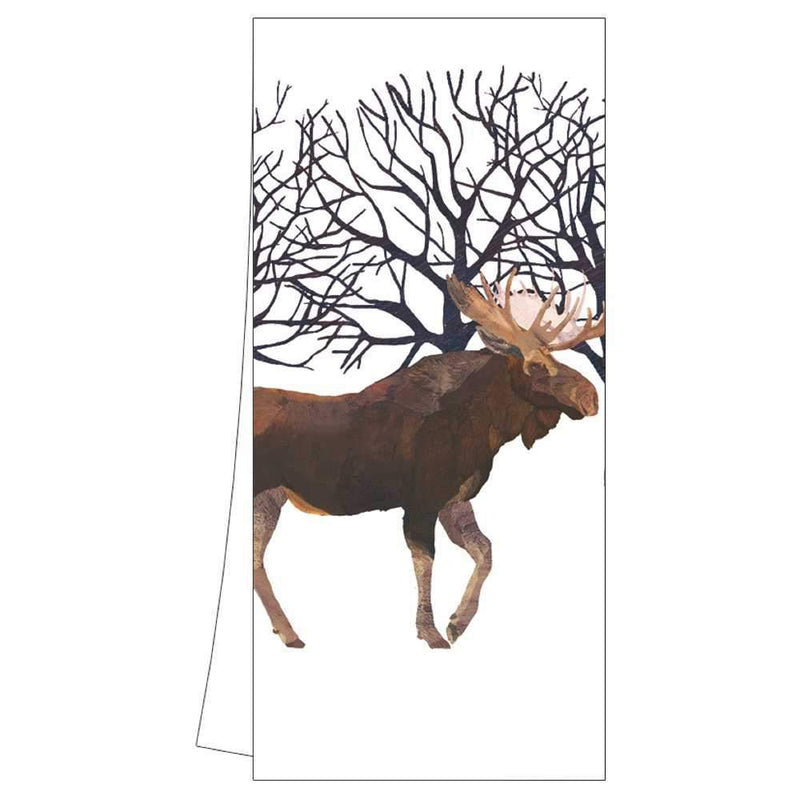 Kitchen Towel-Winter Moose