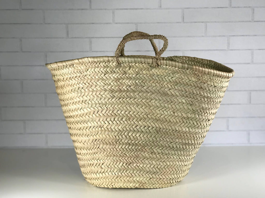 Moroccan Shopping Basket-Leather Strap