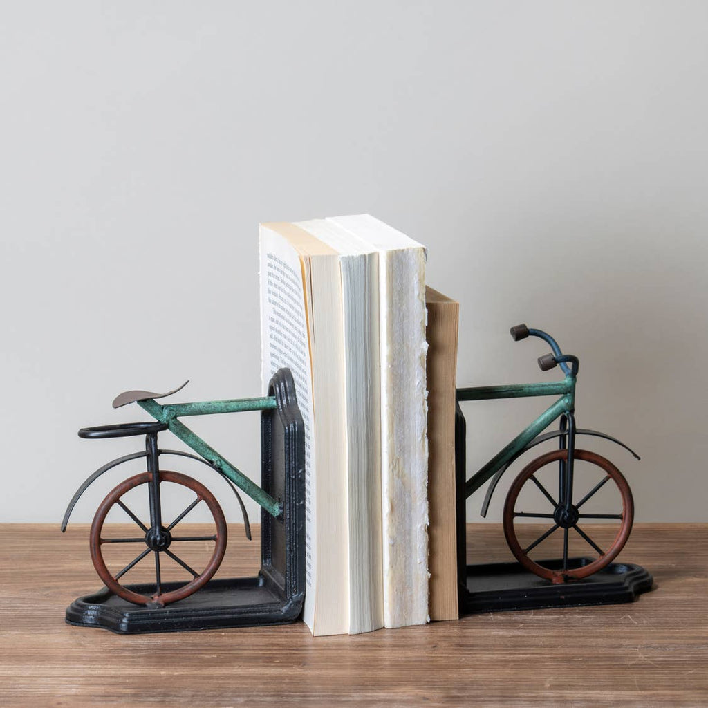 Bike Book Ends-Colorful