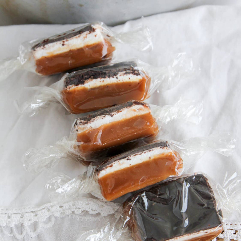Dark Chocolate Marshmallow Caramels - 4 Piece Bag